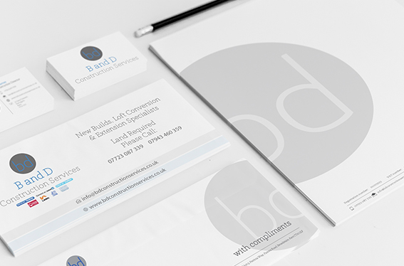 branding, B and D Construction Services, broadstairs, kent, letterheaded paper, business card, flyer, compliment, slip