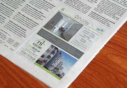 Graphic Design, Advert, Advertisement, newspaper, future homes, thanet, kent, uk